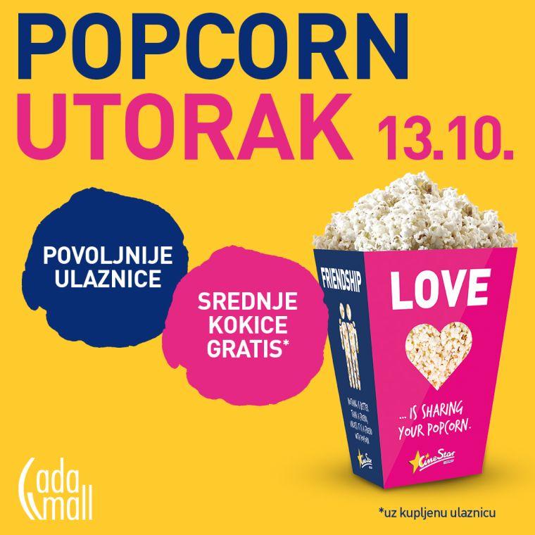 Popcorn utorak CineStar 4DX Ada mall Beograd