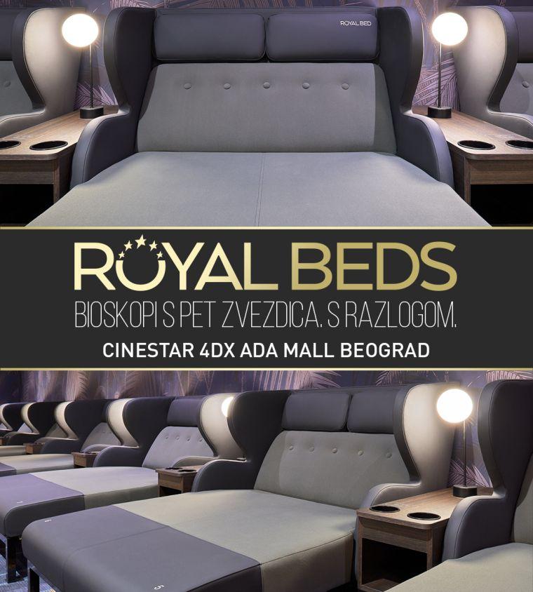 Royal beds ležajevi za dvoje CineStar 4DX Ada mall Beograd